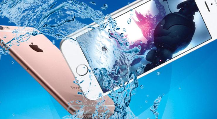 iPhone 7 sous l'eau