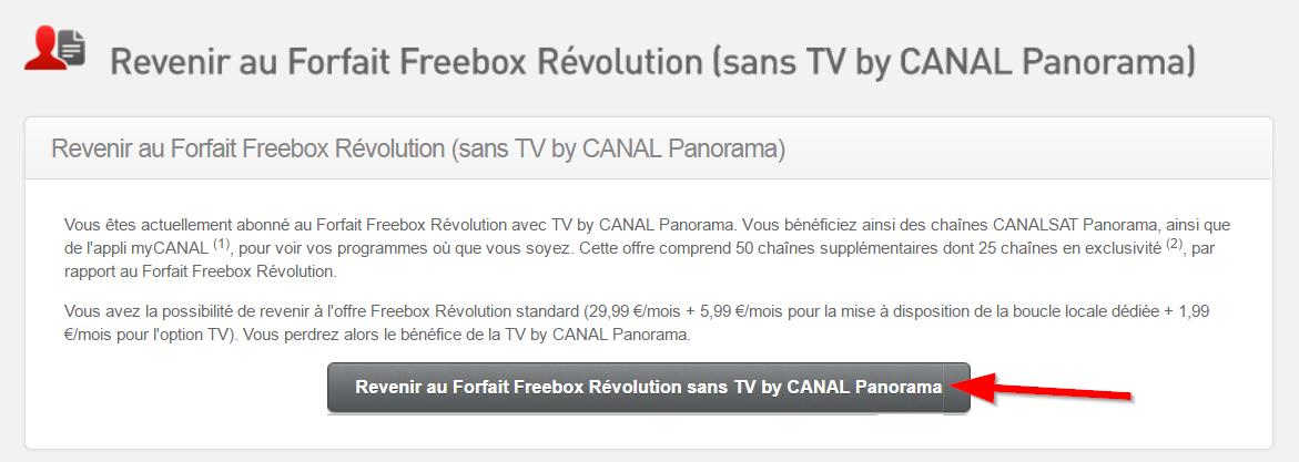Comment désactiver l'option payante TV By Canal Panorama sur