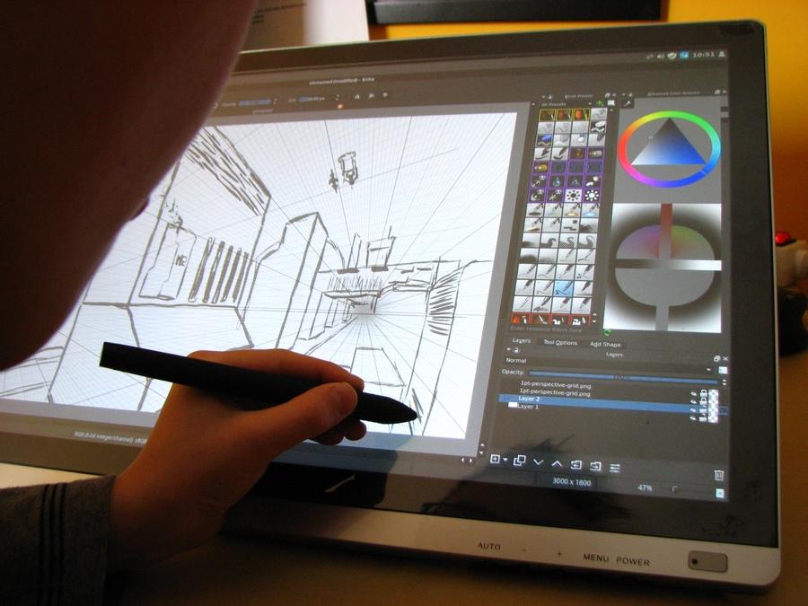 ecran tactile pour dessiner