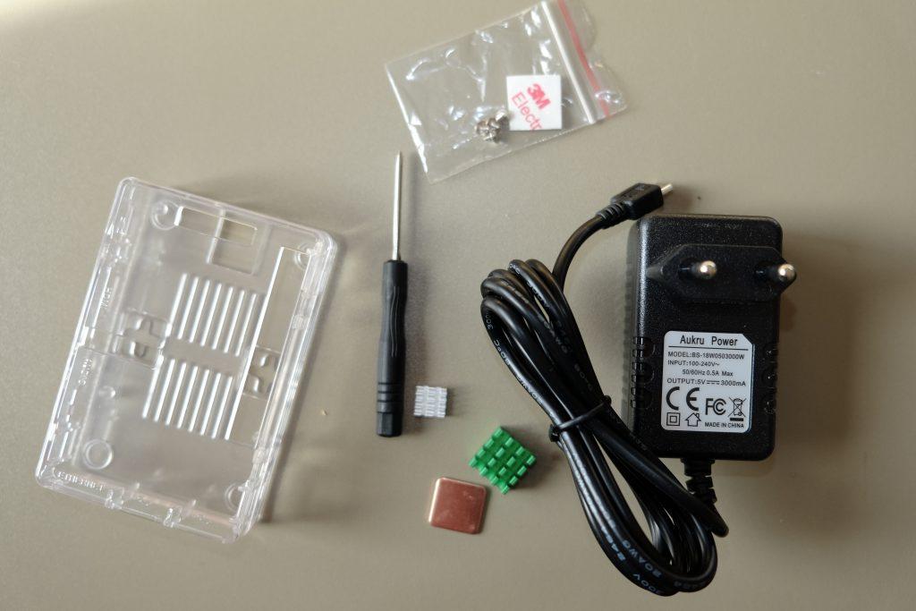 kit boitier / radiateur / alimentation de 3A