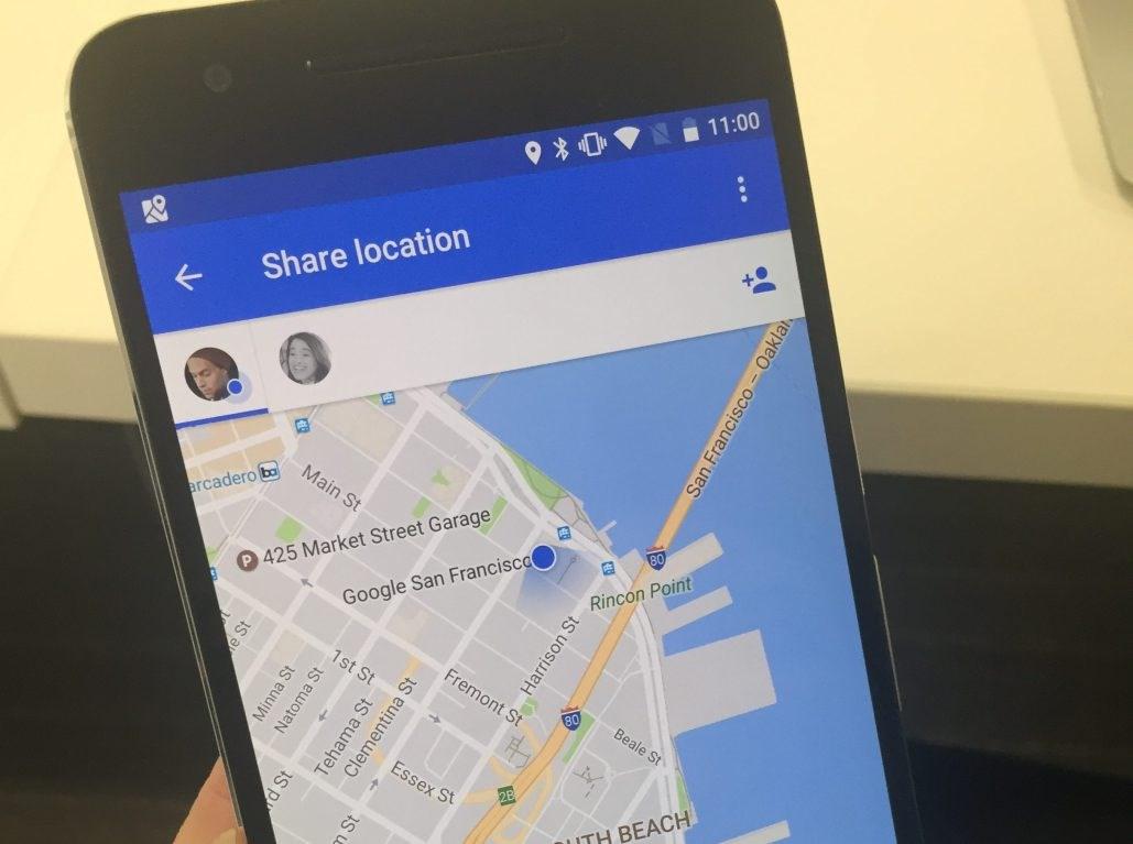 Partagez votre position avec Google Maps