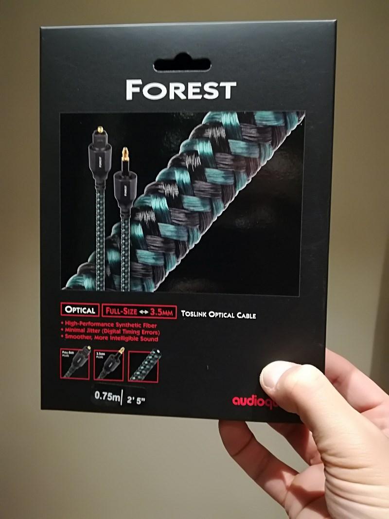 Audioquest Câbles optiques Forest Optical Toslink-jack (0,75 m)