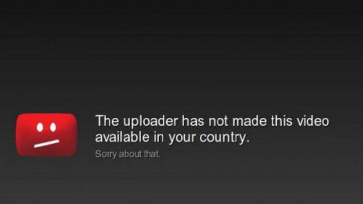 Exemple d'un contenu YouTube inaccessibledepuis votre pays