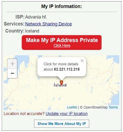Vérification du masque de votre adresse IP avec What Is My IPAdress