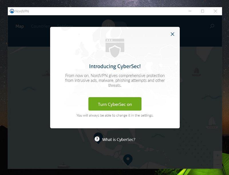 Vous pouvez activer CyberSec pour bloquer les pubs