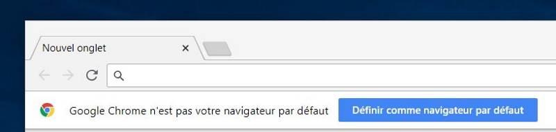 Ouverture du navigateur Google Chrome