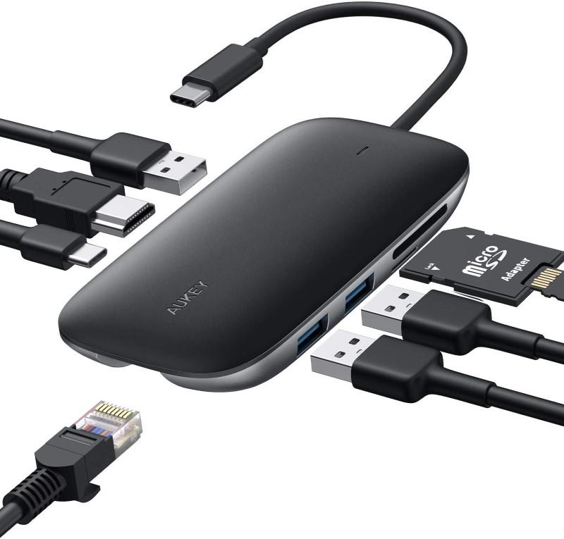 Un Hub Aukey 8 en 1 pour tout connecter à votre Dell XPS 15