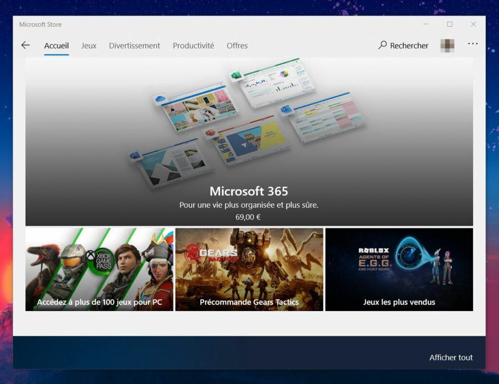 Le Store de Microsoft