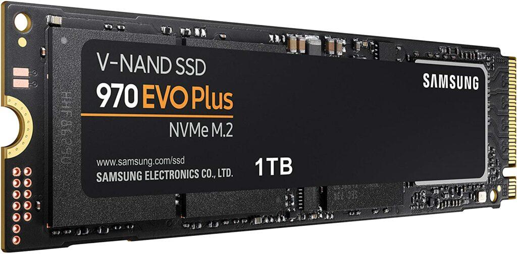 Le stockage SSD M.2 en NVMe de Samsung est ultra rapide.