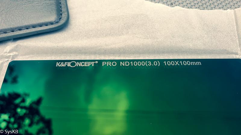 Zoom sur le filtre ND1000 de K&F