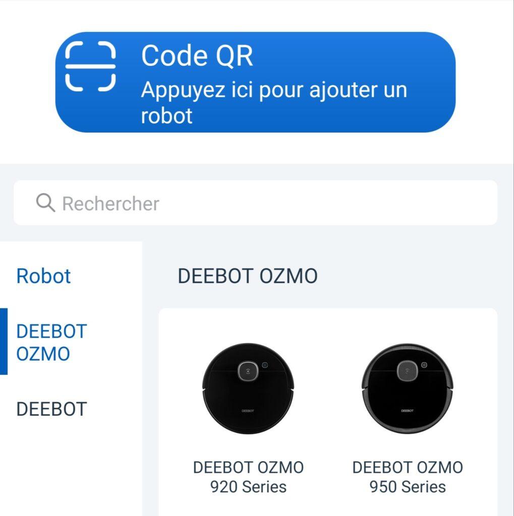 Appairage du robot Deebot