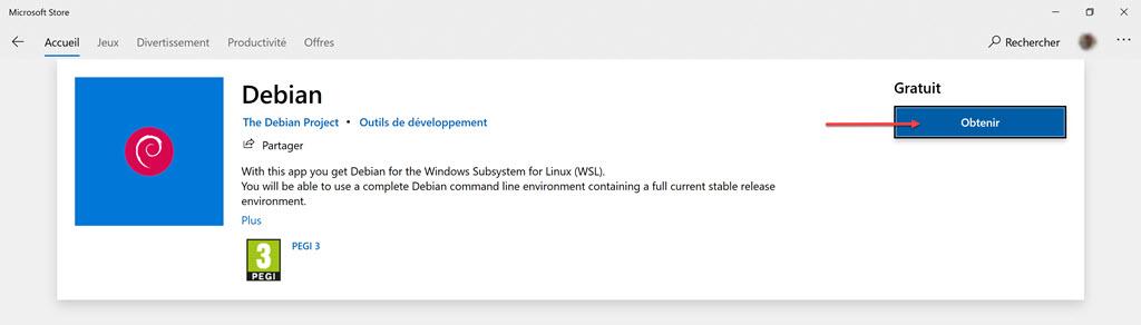 Installer Debian dans WSL