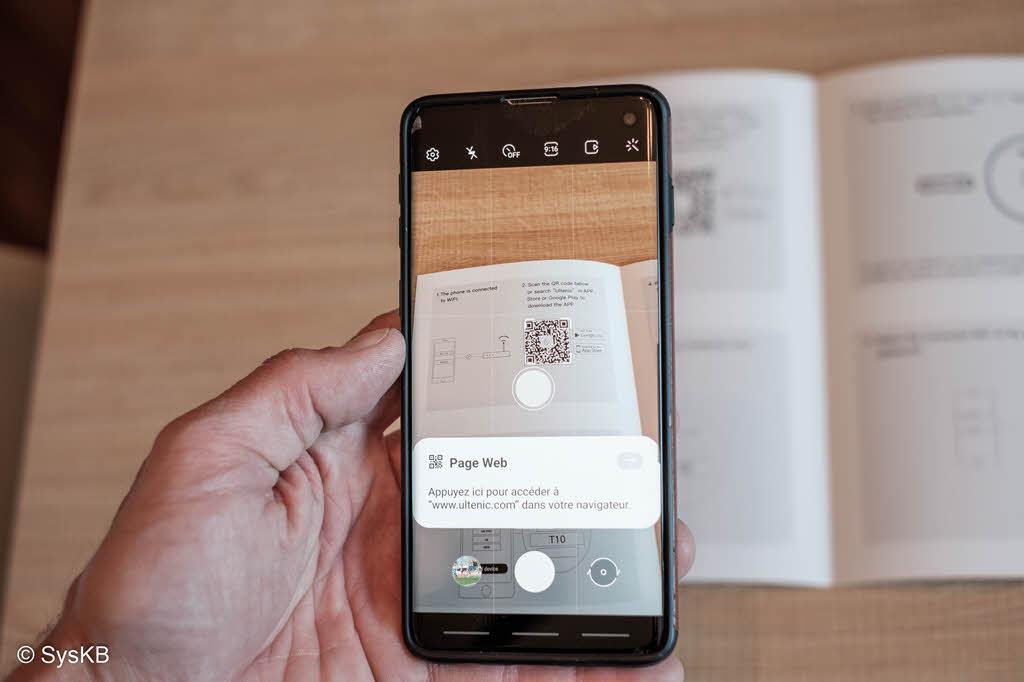L'application smartphone Ultenic T10