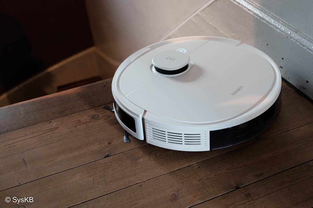 Le système de détection laser empêche le robot de tomber d'un escalier